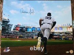 Aaron Judge New York Yankees Signed 16 x 20 Running Out of Dugout Photo MLB