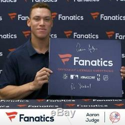 Aaron Judge New York Yankees Signed 8 x 10 Hitting Home Run Photo Fanatics