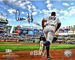 Aaron Judge New York Yankees Signed 8 x 10 Running Out of Dugout Photo