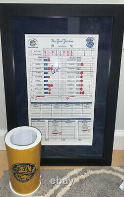 Aaron Judge New York Yankees Signed Auto Game Used Lineup Card