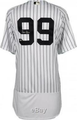 Aaron Judge New York Yankees Signed Majestic White Authentic Jersey Fanatics