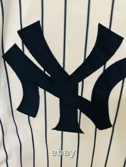 Aaron Judge New York Yankees Signed Majestic White Authentic Jersey MLB Holo