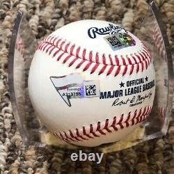 Aaron Judge New York Yankees signed baseball MLB and Fanatics hologram authentic
