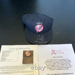 Aaron Judge Pre Rookie 2014 Game Used Signed NY Yankees Minor League Hat JSA COA