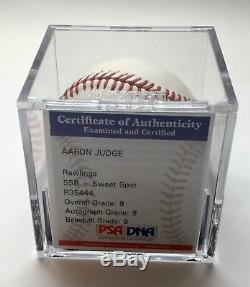 Aaron Judge Rookie Signed Ball PSA/DNA 9 Mint Auto Grade Mint 9 (346)