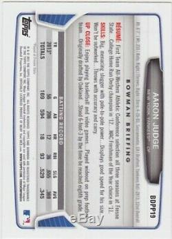 Aaron Judge Signed 2013 Bowman Draft Picks Rookie Card Yankees Autograph Auto RC