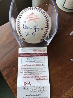 Aaron Judge Signed 2017 All Star Game Baseball Romlb Inscribed 1st ASG JSA COA