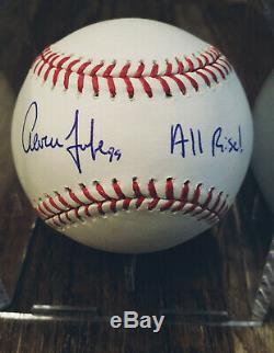 Aaron Judge Signed All Rise Baseball Yankees Auto Sweet Spot Jsa Coa Snow White