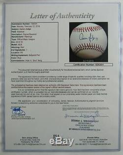 Aaron Judge Signed Auto Autograph Baseball JSA SD53001