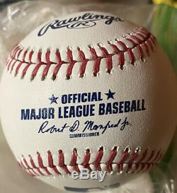 Aaron Judge Signed Autographed Baseball ROMLB Pearl Sweet Spot Guaranteed