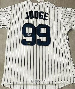 Aaron Judge Signed Autographed New York Yankees MLB Majestic Jersey with COA