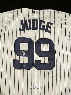 Aaron Judge Signed Autographed New York Yankees Pinstriped MLB Jersey COA