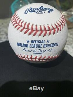 Aaron Judge Signed Autographed Oml Baseball Yankees 2017 Al Roy Winner Mint Rare