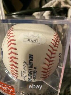 Aaron Judge Signed Baseball New York Yankees Auto Jsa Loa Omlb