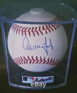 Aaron Judge Signed Baseball Yankees Auto Sweet Spot Beckett Coa Omlb Snow White