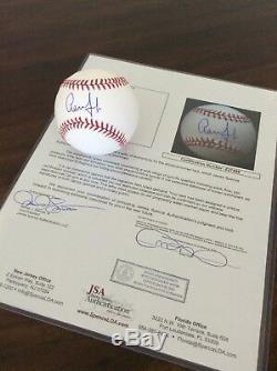 Aaron Judge Signed OML Baseball Yankees JSA Full Letter