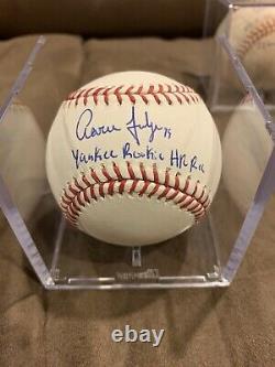 Aaron Judge Signed ROMLB Yankees Rookie HR Rec LE 30/30 YANKEES ROY