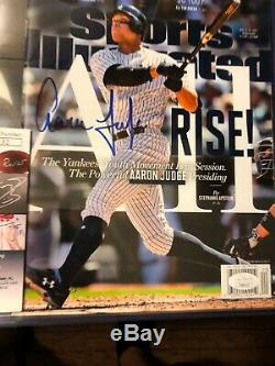 Aaron Judge Signed Sports Illustrated Autograph Jsa Yankees Baseball No Label Si
