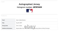 Aaron Judge Signed Yankees Jersey Framed rookie Autograph Fanatics 2017 ROY