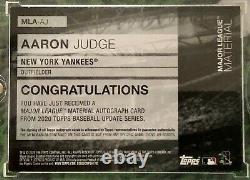 Aaron Judge Stamped 1/1 Patch Autograph 2020 Topps Update Yankees