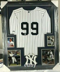 Aaron Judge YANKEES Autographed Framed Jersey! JSA Authenticated
