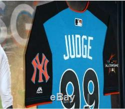 Aaron Judge Yankees Frmd Signed Majestic 2017 HR Derby Authentic Jersey Collage