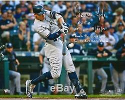 Aaron Judge Yankees Signed 16 X 20 Photo & Multiple 100th HR Inscs LE 12