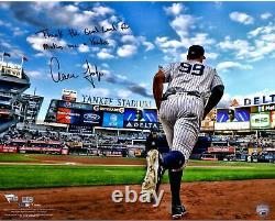 Aaron Judge Yankees Signed 16 x 20 Onto Field Photo & Thank the Good Lord Insc