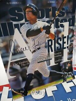 Aaron Judge Yankees Signed Si Cover 16x20 Photo Fanatics Coa