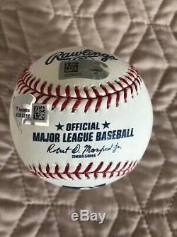 Aaron Judge autographed baseball LE #68/99 All Rise Judgement Day Fanatics & MLB