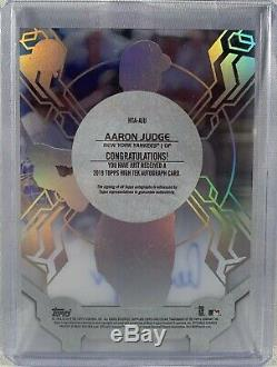 Aaron Judge autographed signed Card 1/1 NY Yankees 2019 Topps High Tek Rare