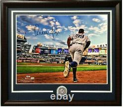 Aaron Judge signed 16x20 photo framed Yankees coin autograph Fanatics COA