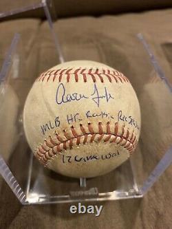 Aaron Judge signed Game Used Baseball 6/21/17 MLB ROOKIE HR REC SEASON YANKEES