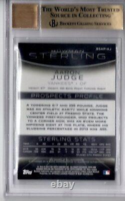 BGS 9.5/10 AARON JUDGE AUTO 2013 Bowman Sterling Prospect Autograph RC GEM MINT