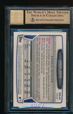 BGS 9.5 AUTO 10 AARON JUDGE 2013 Bowman Chrome Refractor Autograph TRUE GEM MINT