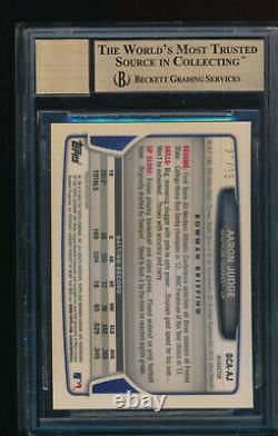 Bgs 9.5 Auto 10 Aaron Judge 2013 Bowman Chrome Black Refractor Rc #/35 Gem Mint
