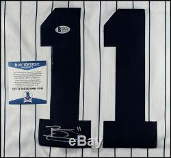 Brett Gardner Autographed New York Yankees Baseball Jersey Beckett Bas Coa