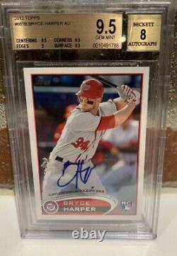 Bryce Harper 2012 Autographed Topps Rookie Card Sp MINT
