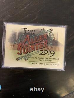 Derek Jeter Aaron Judge dual auto relic booklet 2019 Allen and ginter 10/10
