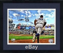 Frmd Aaron Judge New York Yankees Signed 8 x 10 Running Out of Dugout Photo