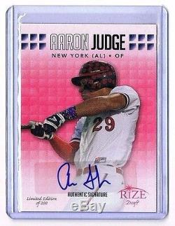 Ltd 200 Aaron Judge Auto Signed Autograph Leaf RIZE Rookie Baseball Ball Card