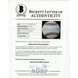 MICKEY MANTLE & AARON JUDGE Autographed Yankees Baseball FANATICS / BECKETT