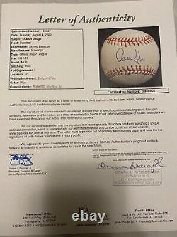 New York Yankees Aaron Judge Signed OMLB Baseball Authenticed By JSA