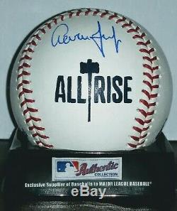 New York Yankees Aaron Judge autographed custom LOGO MLB baseball