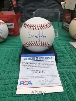 Nice! Yankees Aaron Judge Signed And Inscribe Mlb Baseball W Psa/dna Coa