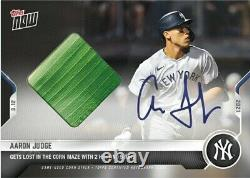 On-Card Auto Corn Relic # to 99 Aaron Judge 2021 MLB TOPPS NOW Card 651A