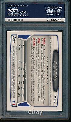 PSA 10 AARON JUDGE 2013 Bowman Chrome Draft Picks Autograph AUTO RC GEM MINT