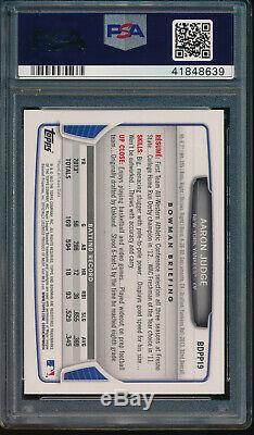 PSA 10 DNA AUTO 10 AARON JUDGE 2013 Bowman Draft Picks #BDPP19 Yankees Rookie RC