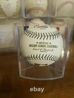 Rare Yankeesaaron Judge Signed Green Stiched Memorial Day Mlb Baseball