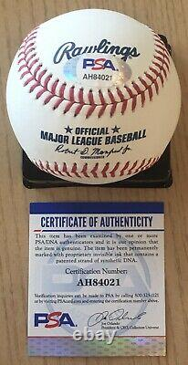 Spectacular Aaron Judge Full Name Psa/dna Authenticated Signed Manfred Baseball